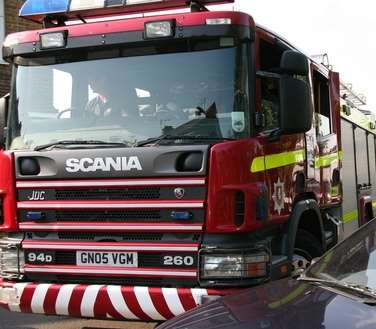 Kent Fire and Rescue Service. Stock image
