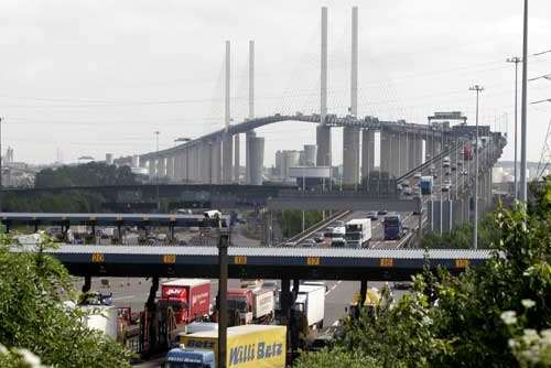 An accident in which a lorry hit a horse led to delays on the Dartford Crossing. Library image