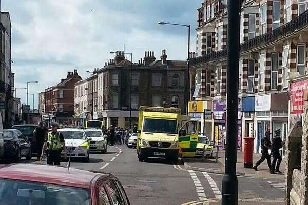 The scene in Cliftonville. Picture @zoetheminx via @Kent999s