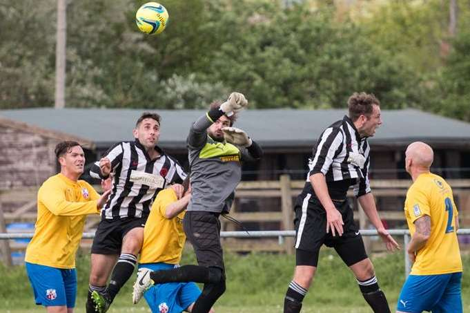 Sheppey & Sheerness United got the better of APM last Saturday Picture: Steve Povey