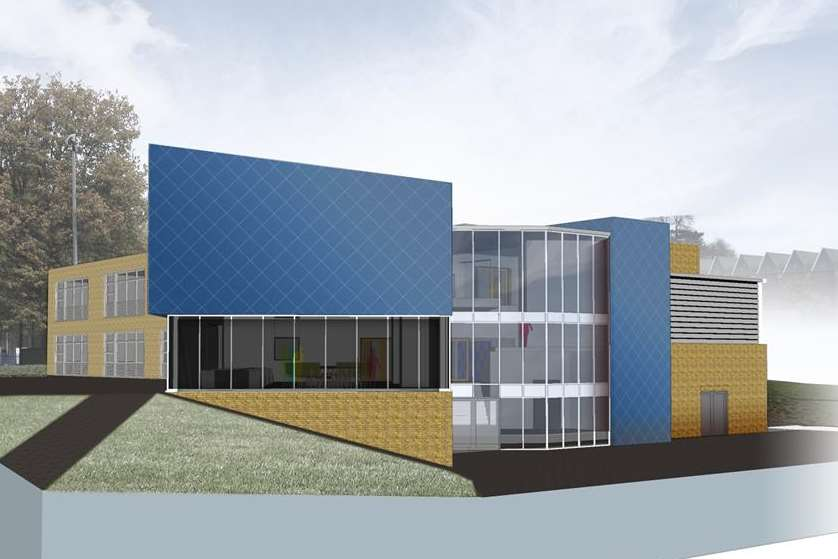 An artist's impression of the proposed new block at the school