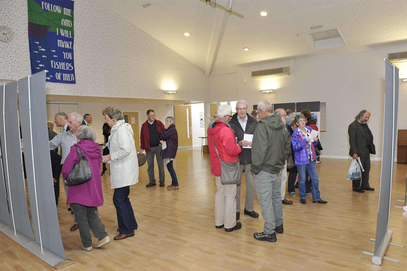 The exhibition attracted nearly 200 residents