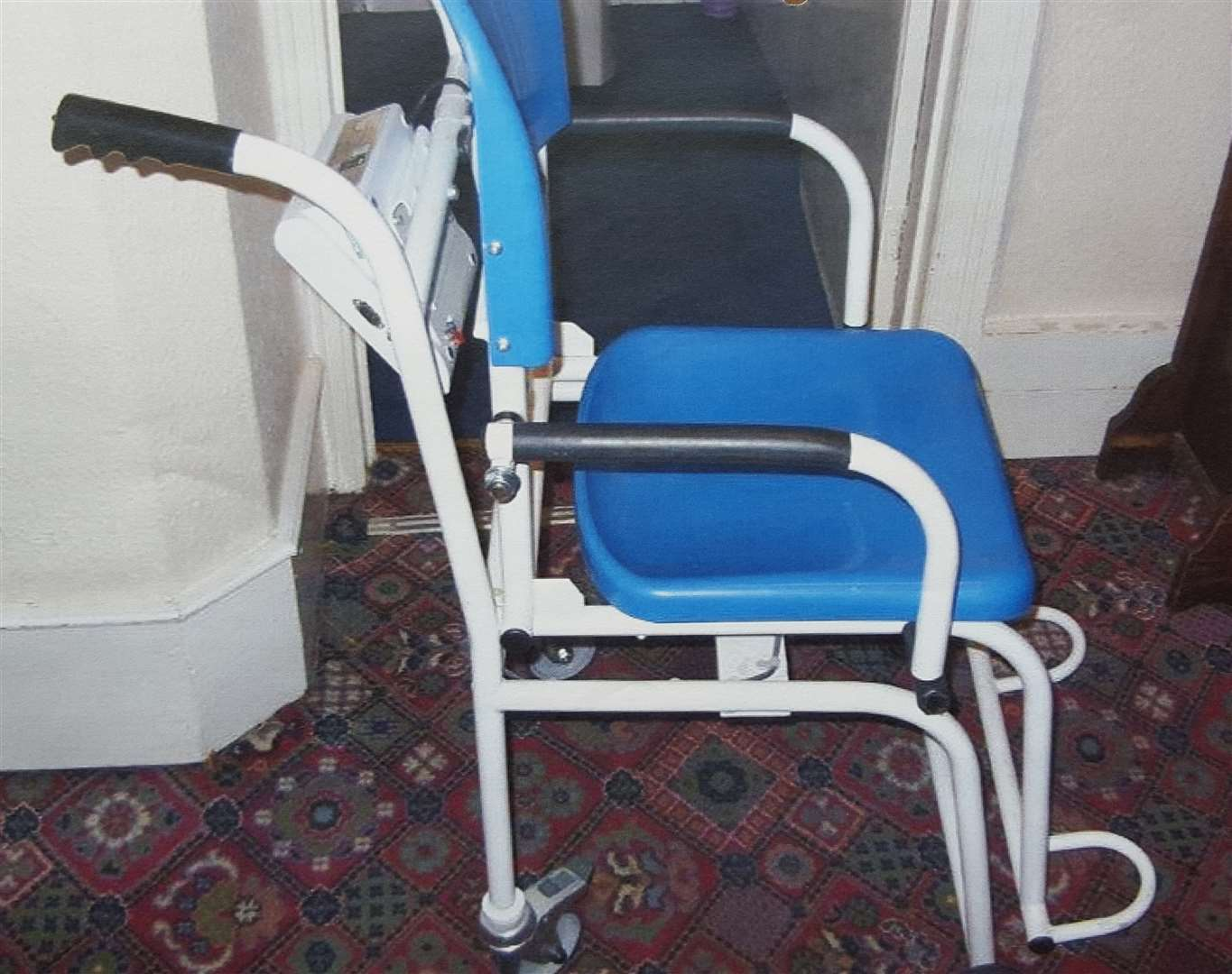 The weighing chair which trapped Joan Daws in the lift