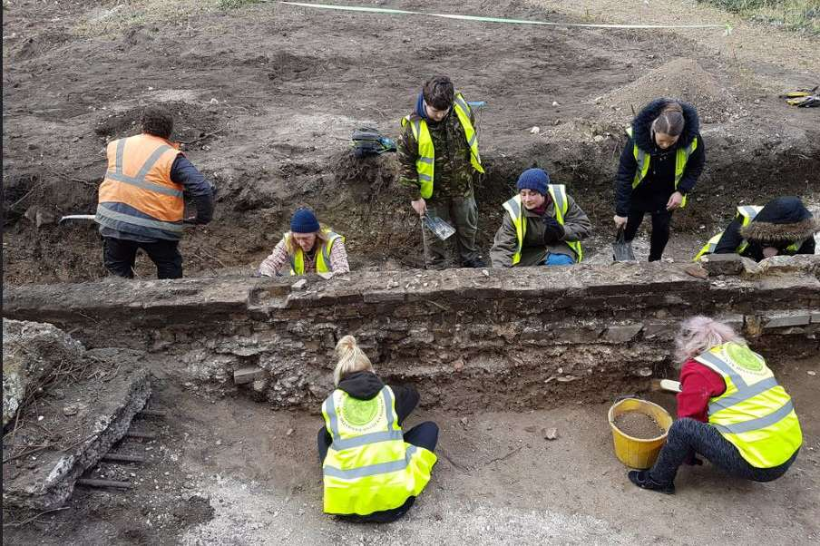 Dig at the Margate Caves site. Pic: Dan Thompson
