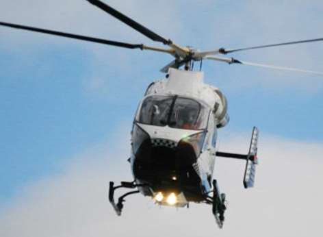 The air ambulance has been called to the scene