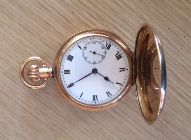 The pocket watch was stolen last month