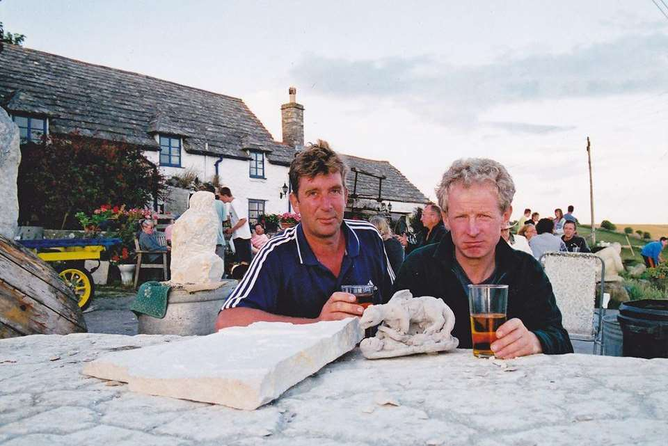 Alan Bishop (right) who died of cancer just 39 days after being diagnosed