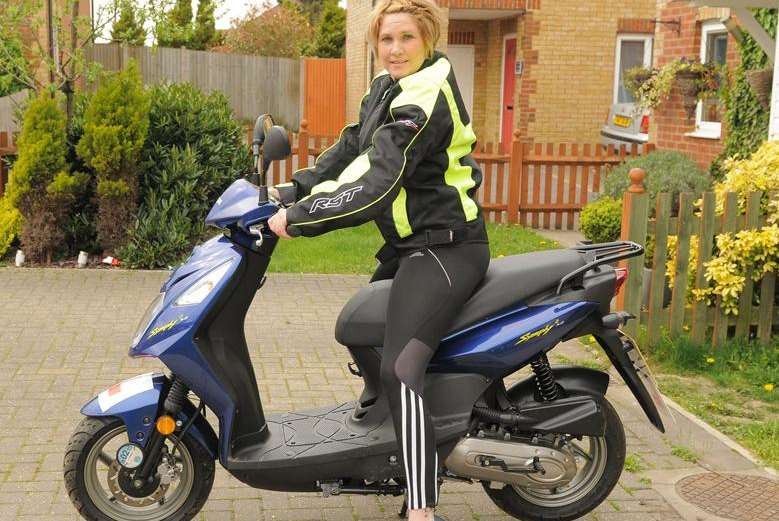 Caroline Holland secured a job thanks to her hire scooter