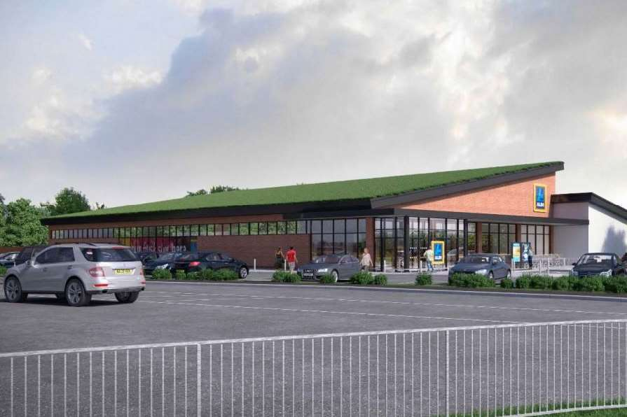 An artist's impression of the new supermarket