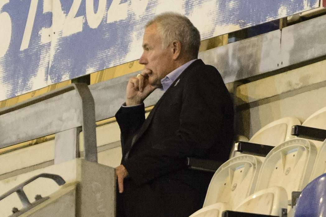 Interim boss Peter Taylor watches proceedings from the stands Picture: Andy Payton