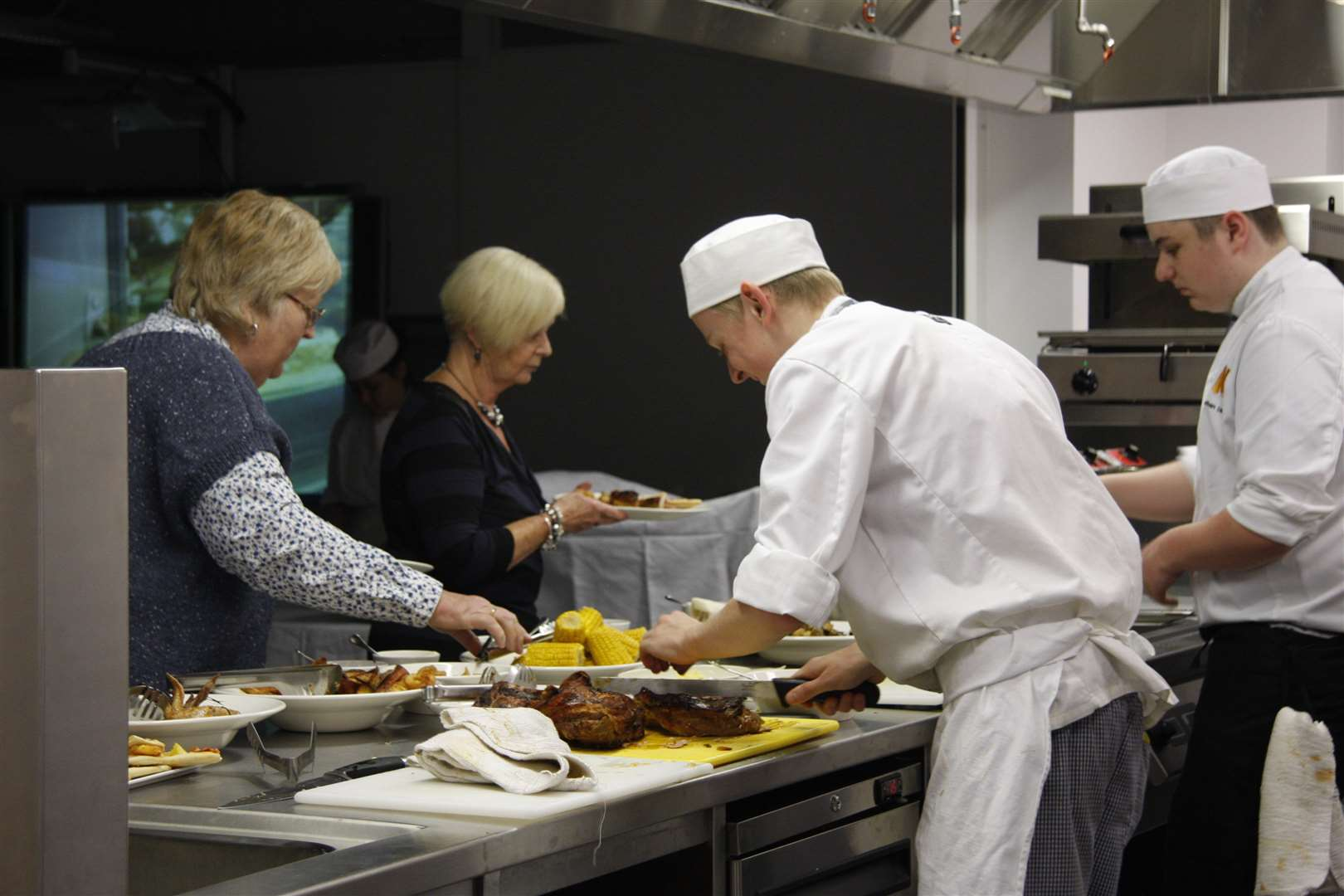 Hospitality apprentices at work