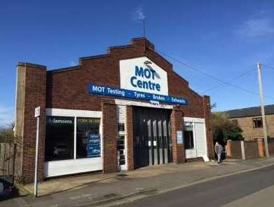 The MOT test centre in West Street has now been demolished