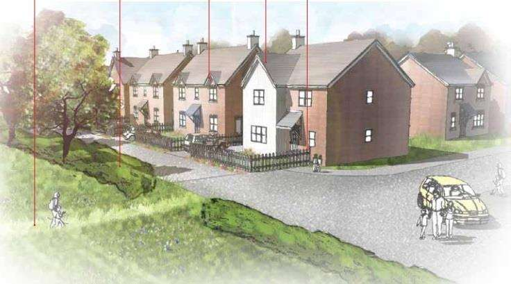 Plans for the controversial homes in Biddenden