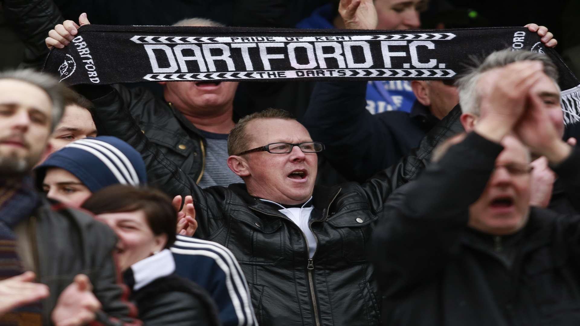 Tony Burman wants the Dartford fans to be loud on Sunday Picture: Martin Apps