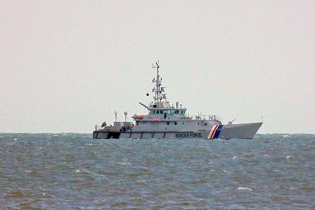 A Border Force cutter patrolling the Channel. File picture: @Kent_999s