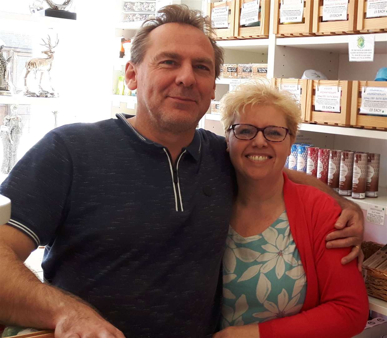 Jane and Mike Wood are selling CBD products at their shop BonneBommb (17034224)