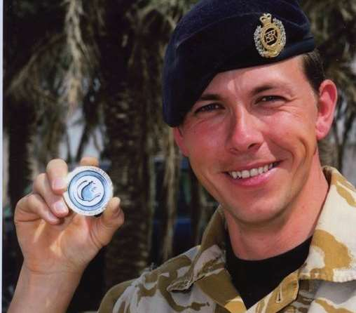 Cpl Terry Stevenson was based at the 36 Royal Engineer Regiment in Maidstone