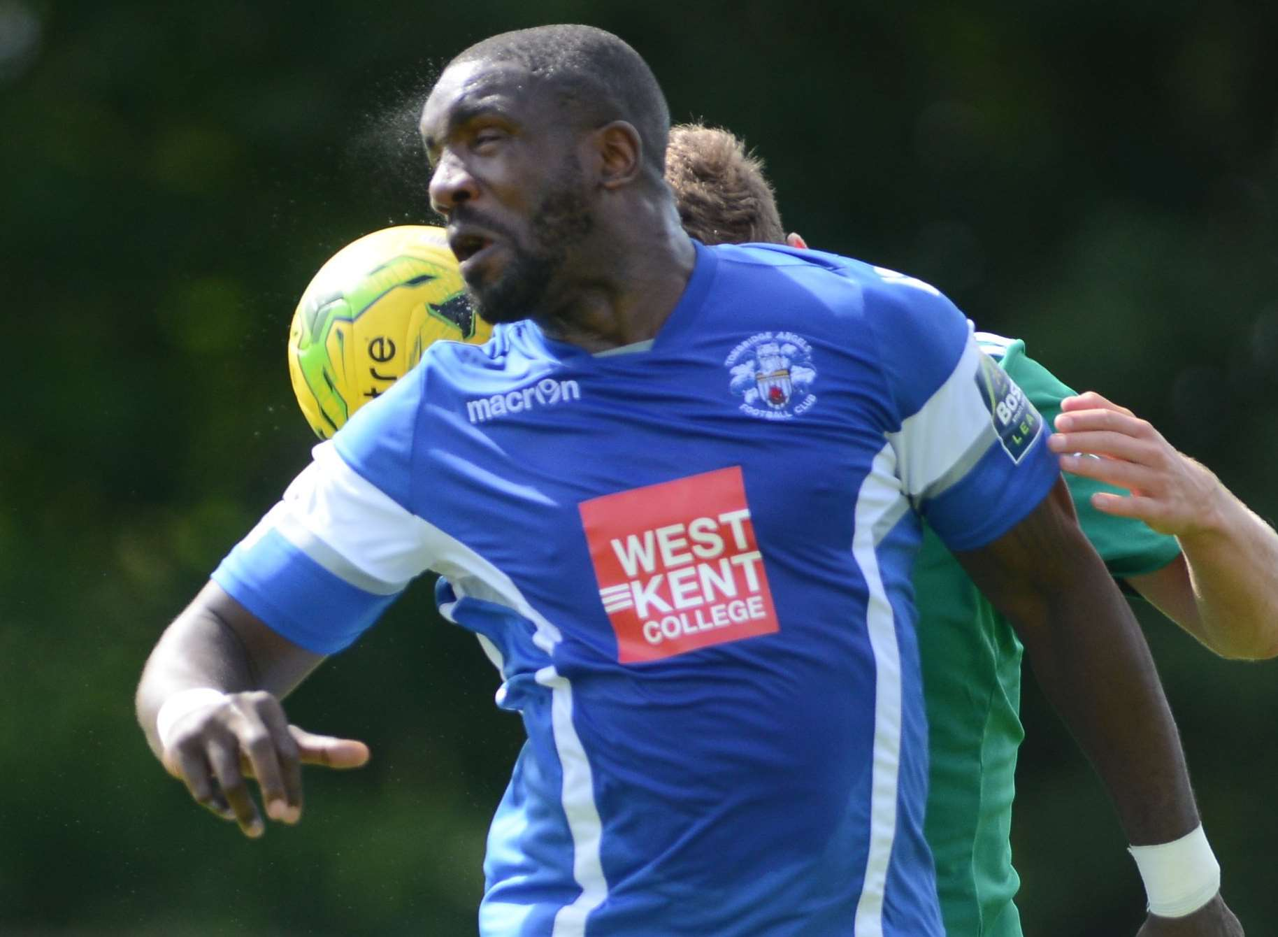 Tonbridge striker Nathan Elder Picture: Gary Browne