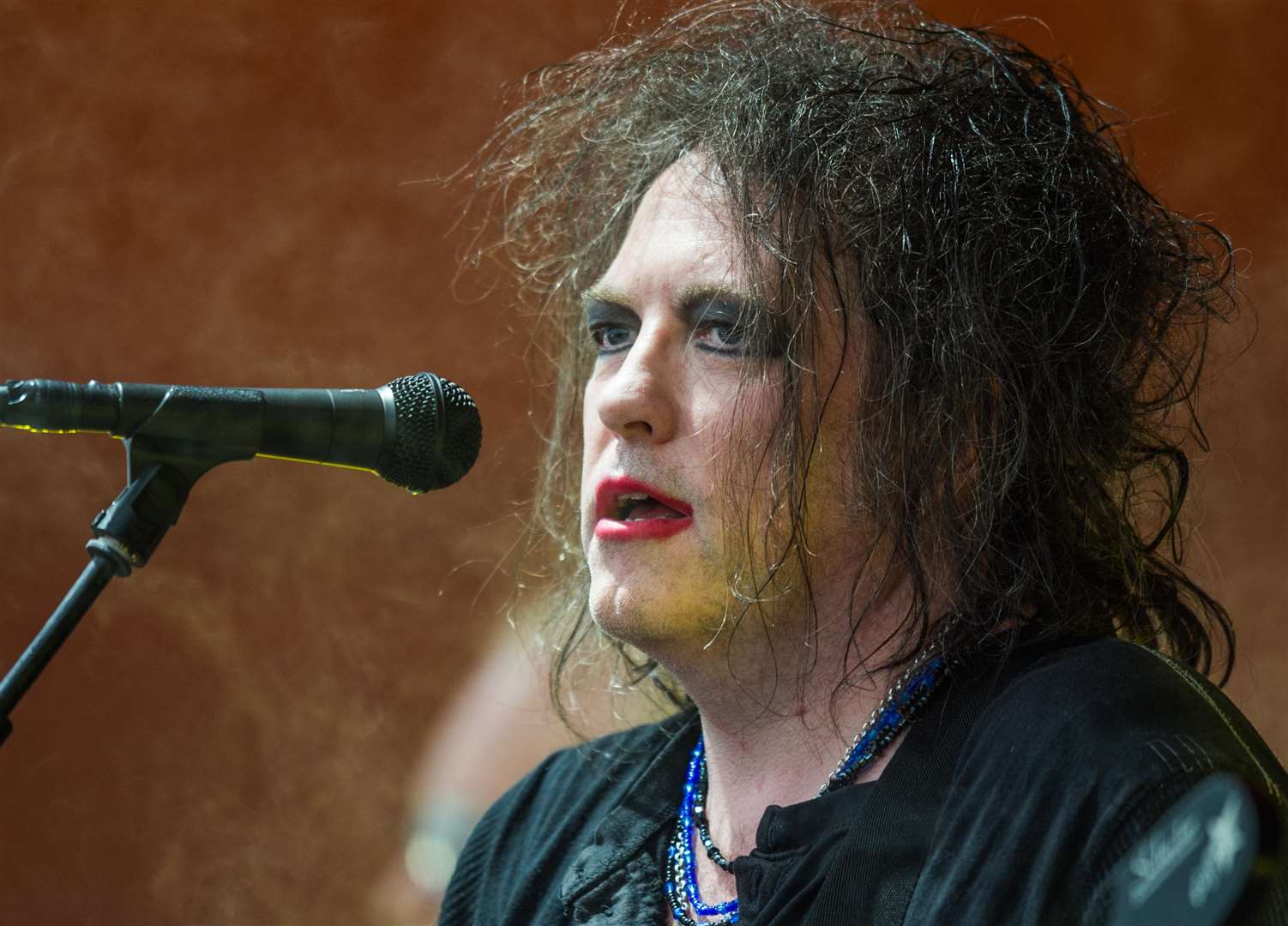 The Cure's Robert Smith celebrates the band's 40th anniversary with a huge sold-out show in Hyde Park this summer. Picture: Bill Ebbesen (2326419)