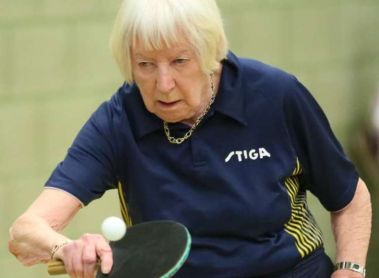 Gravesend veteran table tennis player Pamela Butcher. Picture: Michael Loveder