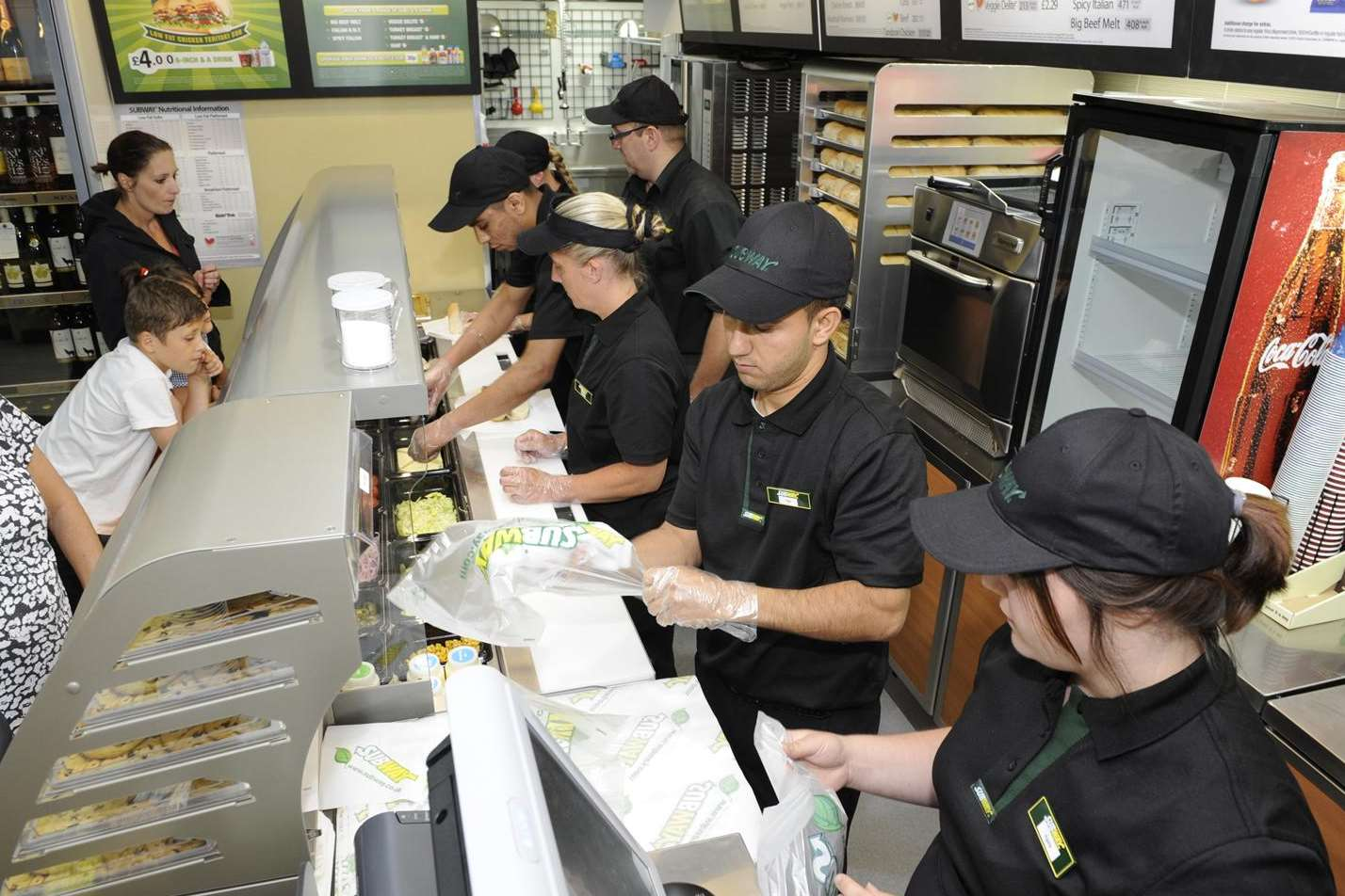 The new Subway counter inside Simply Fresh
