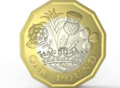 The new 12-sided £1 coin released in part of Kent today