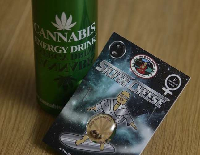 Cannabis energy drink and cannabis seeds are being sold at shops in Maidstone