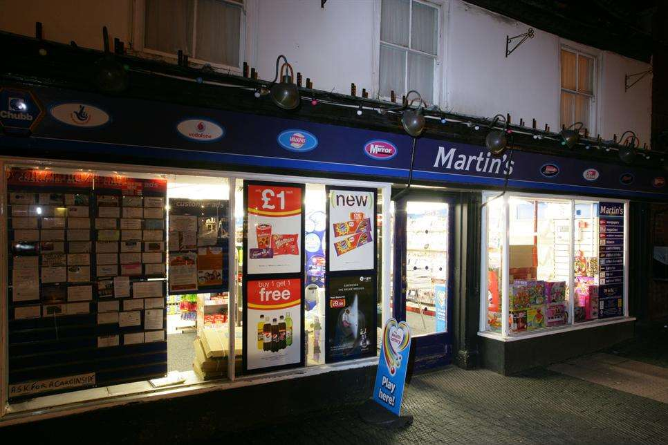 Martin's newsagents in West Malling High Stret