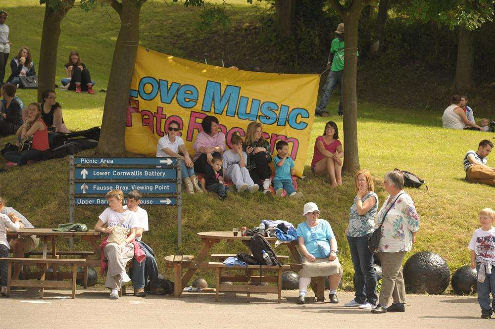 The Love Music, Hate Racism festival had been enjoyed by families before trouble flared at the end