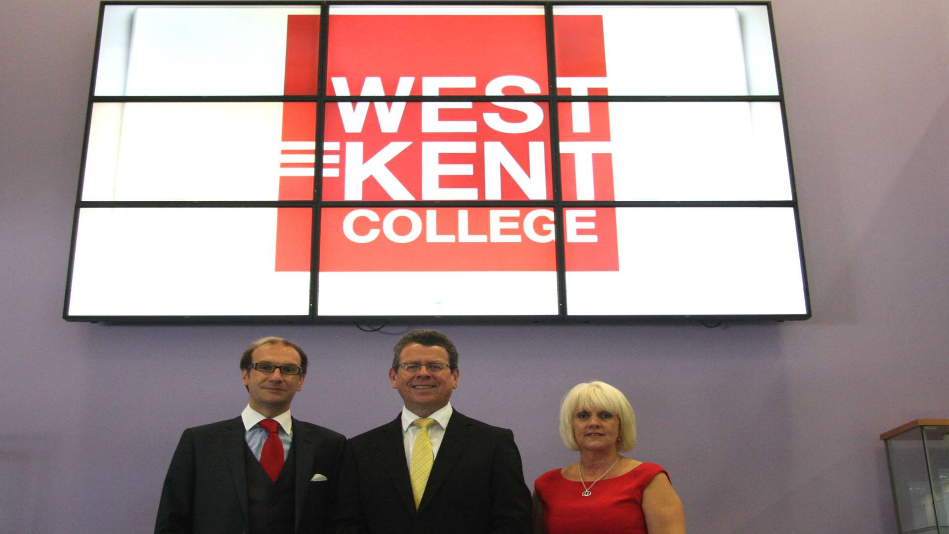 From left, Hadlow College finance director Mark Lumsdon-Taylor, principal Paul Hannan and vice principal Lynda Brown