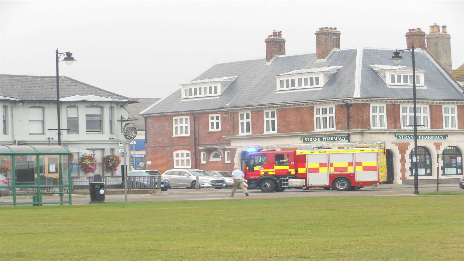 Firefighters attended the scene within five minutes of the call at 4.03pm Picture: Tony Wickenden