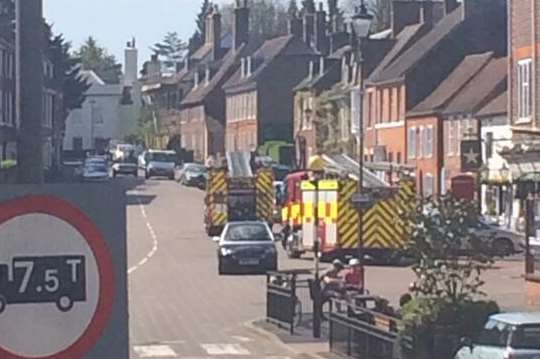 Fire crews in West Malling High Street. Picture by Brooke Schafer.