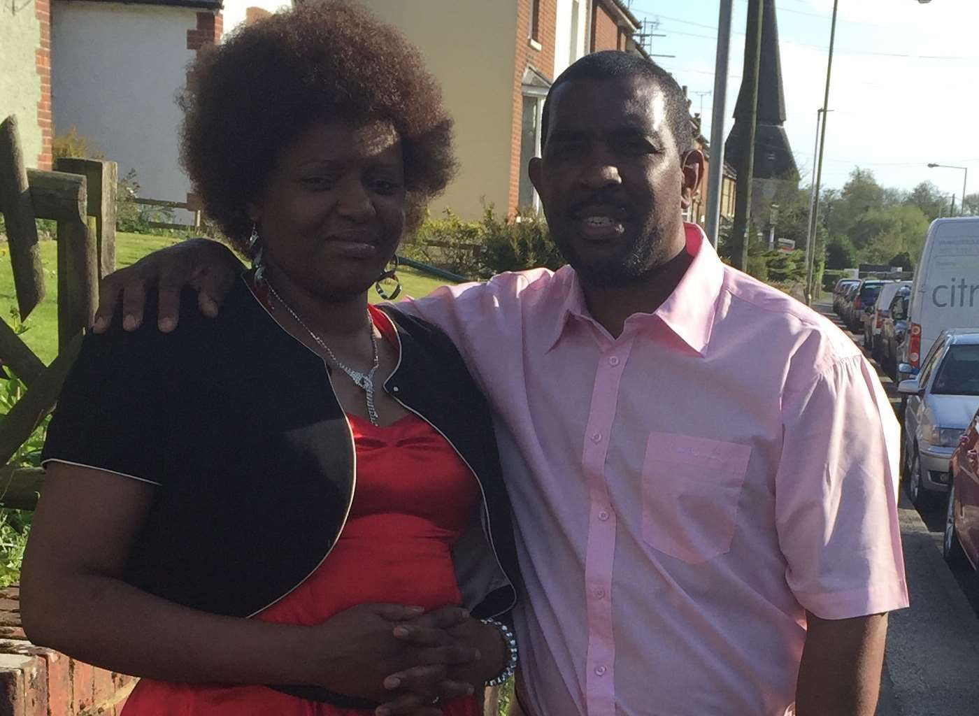 Mildred Matete Hlabi with her husband Moses