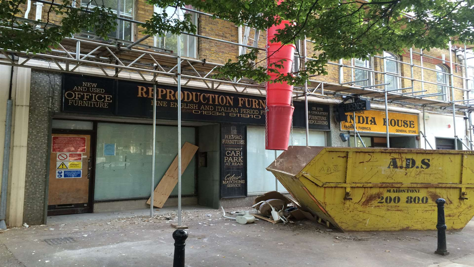 Owners have plans to open a restaurant bar at 17 New Road, Chatham - which was formerly a furniture shop