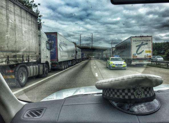 An unusual view of Op Stack. Picture: @kentpoliceroads
