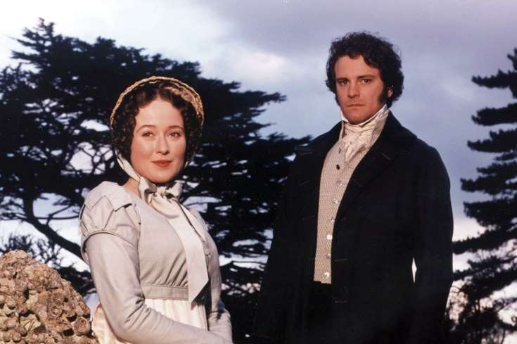 Jennifer Ehle and Colin Firth in the BBC's 1995 TV adaptation of Pride and Prejudice