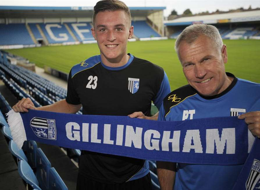 Gillingham's new signing Brennan Dickenson joins from Brighton. Picture: Barry Goodwin
