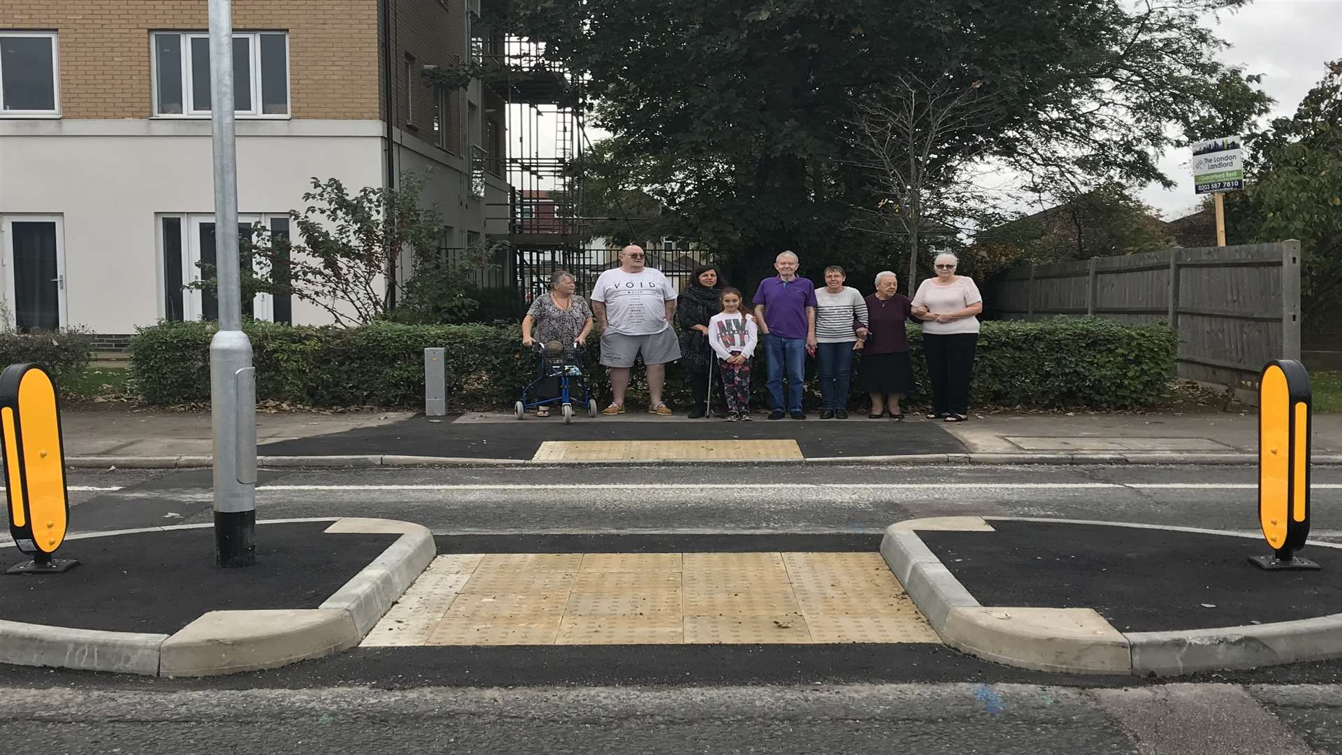 Locals are pleased to have a pedestrian crossing installed on this notorious stretch of London Road