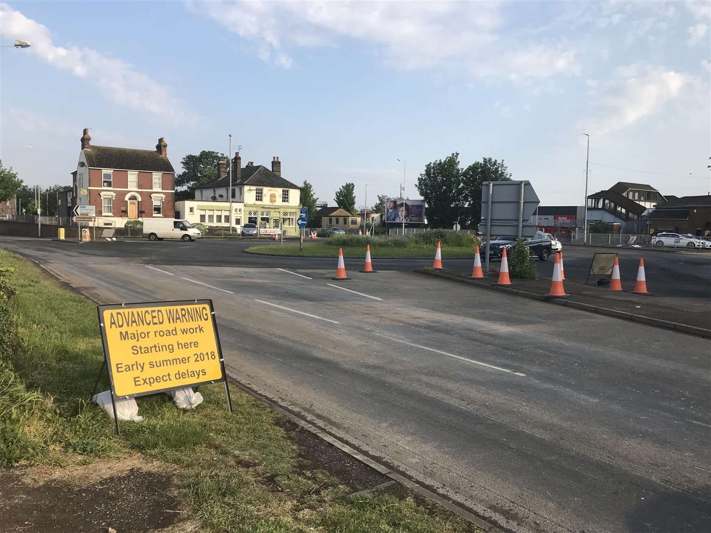 Sittingbourne town centre regeneration roadworks (2141429)