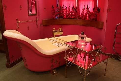 This very pink bathroom is part of a new hidden tour being launched at Hever Castle and Gardens