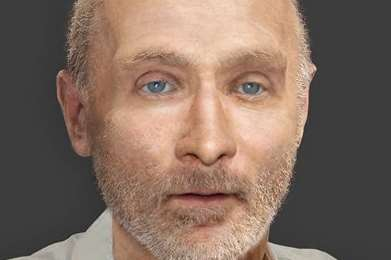 An artist's impression of a man who was found dead in a field on February 3.