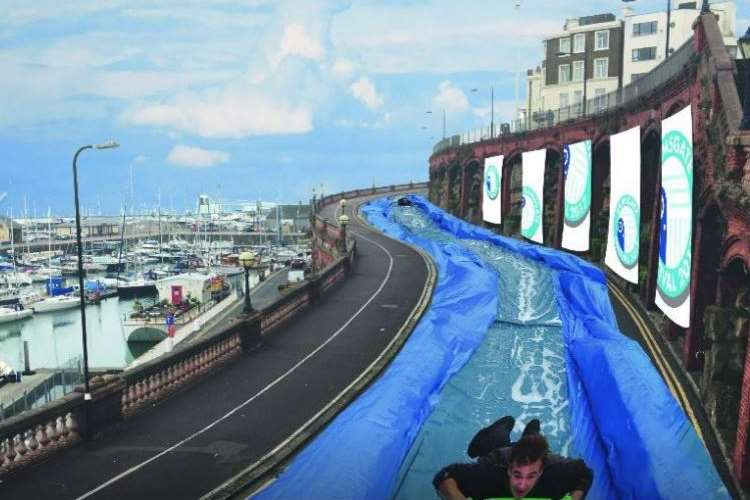 Artist impression of the water slide in Ramsgate