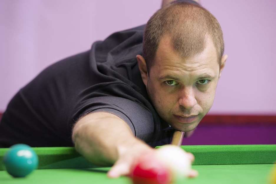 Ditton's Barry Hawkins begins his Crucible campaign against David Gilbert Picture: Andy Payton