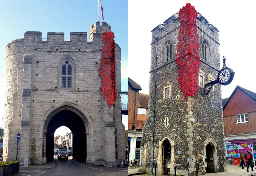 Poppies To Cascade Down Landmark Buildings In Canterbury