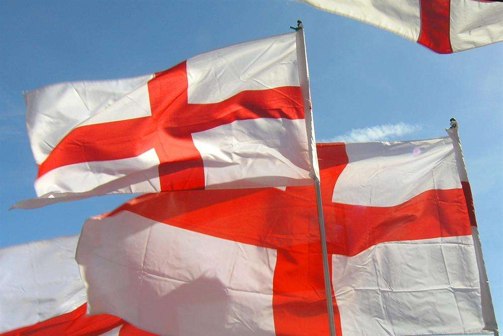 The flag of St George will be flown