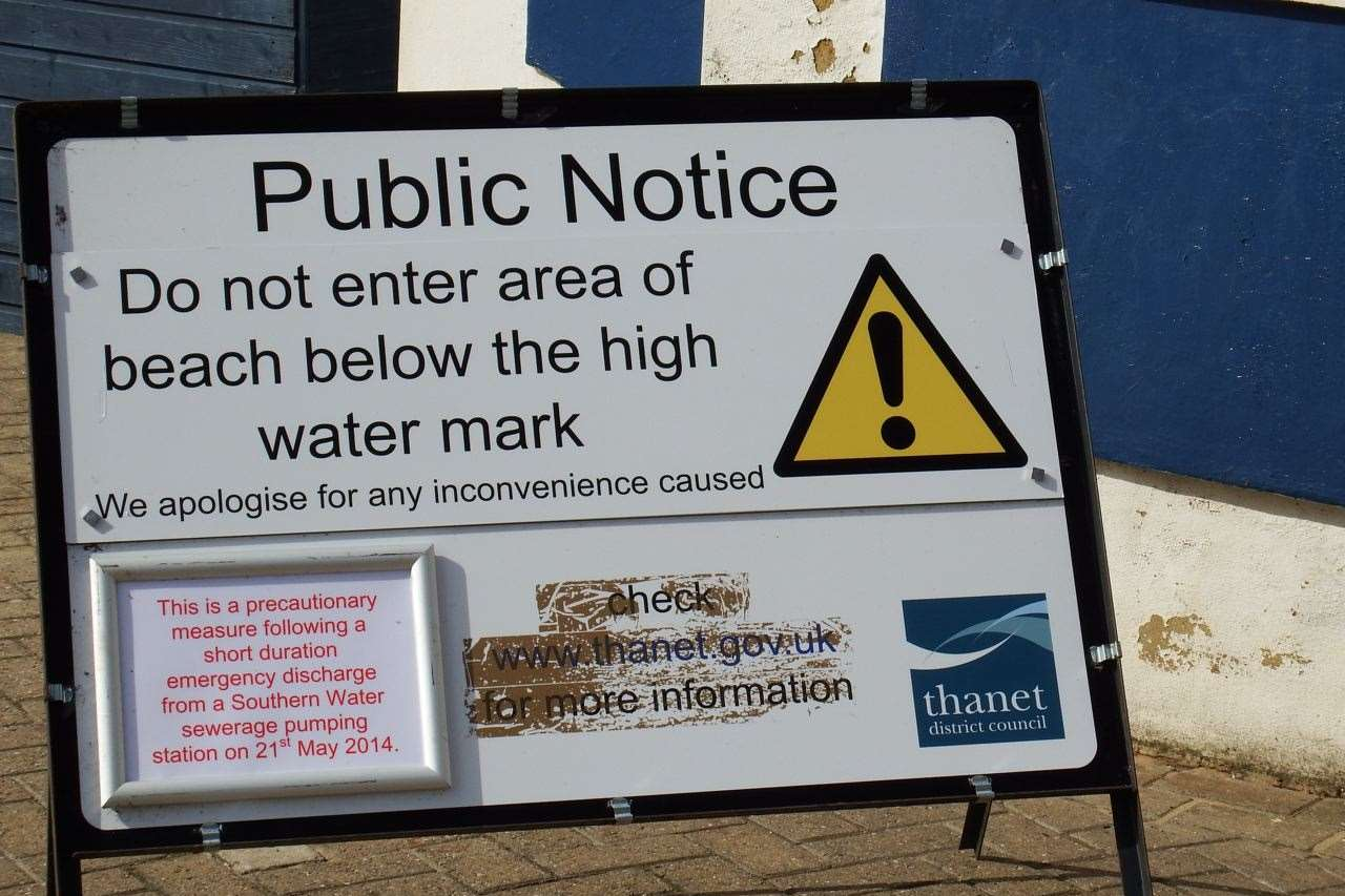 People were warned to avoid swimming on some Thanet beaches. Picture: Mike Pett