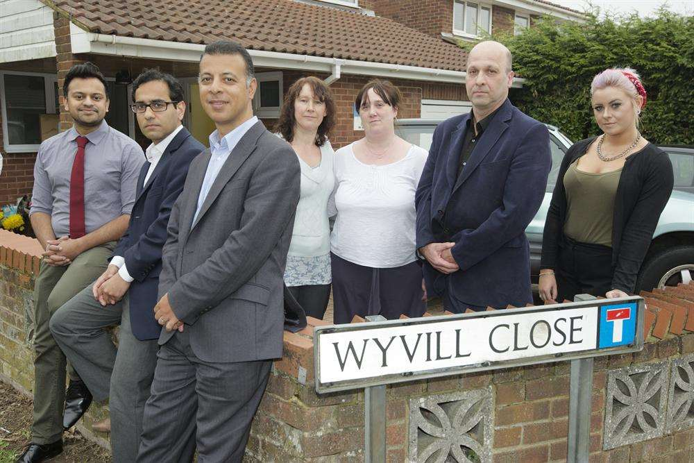 MP Rehman Chishti, second left, joined doctors and patients in the fight to keep the surgery open
