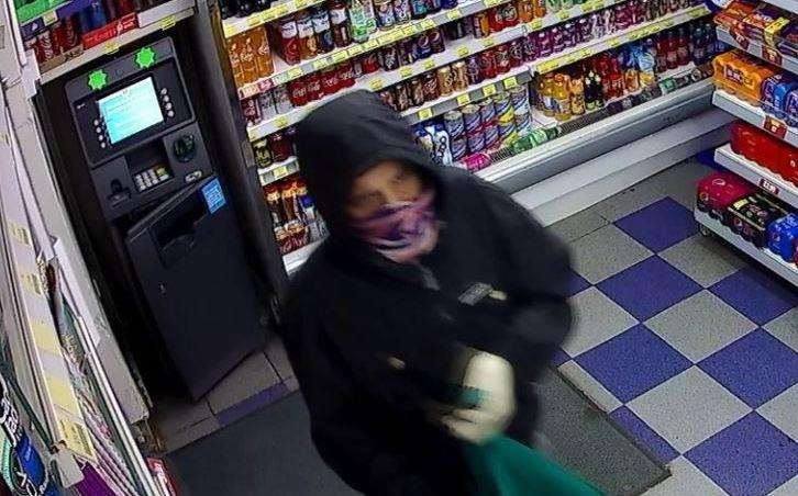 Police have released a CCTV image of a man they would like to speak to following a robbery in Sittingbourne