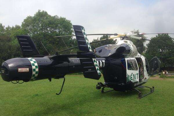 The Kent, Surrey and Sussex Air Ambulance was scrambled. Stock picture