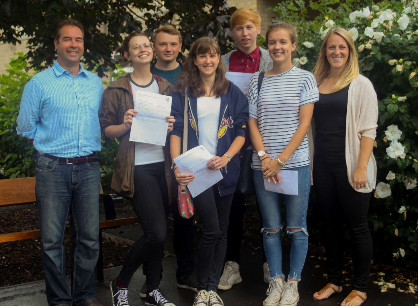 Fulston students and staff celebrate A-level results day